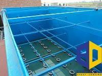 Sơn Epoxy cho hồ xử lý nước thải FRP ( Bọc composite )