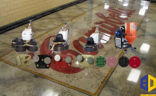 Vật tư và thiết bị đánh bóng sàn bê tông nhà xưởng