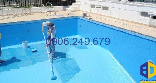thi công sơn epoxy hồ bơi