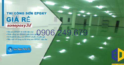 Thi công sơn Epoxy sàn gạch men giá rẻ tại TpHCM